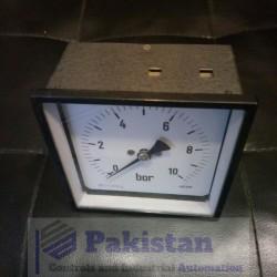 Square Pressure Gauge 10 Bar