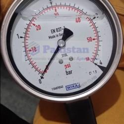 """WIKA Pressure Gauge 232.50, 0-4 Bar, Dial : 4"""""""