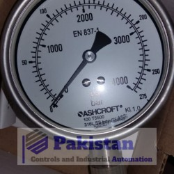 "Ashcroft High Pressure Gauge Dial: 4"", 275 bar"